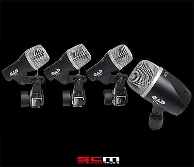 CAD STAGE4 4 Piece Drum Microphone Pack High Quality Great Price Free Shipping!