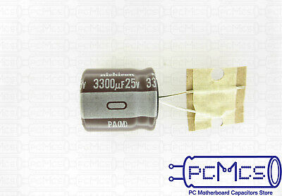 10 x Nichicon PW 6.3V 2200UF High Reliability Switching Power Supplies Capacitor