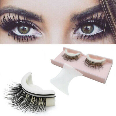 3D No Glue False Eyelashes Self Adhesive Makeup Fake Lashes Extensions Reusable