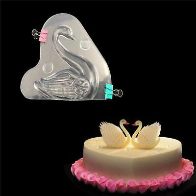 Plastic 3D Swan Shape Chocolate Candy Mould Fondant Cake Decorating Mold B