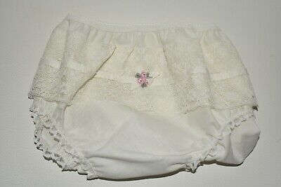 Underwear Vintage 1960 by St Michael Dacron and Cotton Lace Knickers Size UK 8