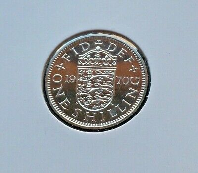 1970 Proof English Shilling 1/- coin Never circulated, untouched. Last Minted