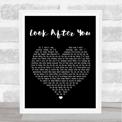 Look After You Black Heart Song Lyric Quote Print