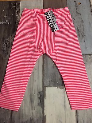 Bonds Baby Stretchies  Leggins /  Size 0 / Pink Stripe / 6-12 months