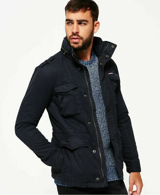 New Mens Superdry Rookie Heavy Weather Field Jacket Midnight