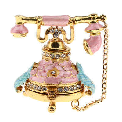 Exquisite 1:12 Scale Dollhouse Miniature Furniture Telephone Model Toys Pink