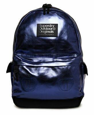 New Womens Superdry Foiled Montana Rucksack Acid Navy