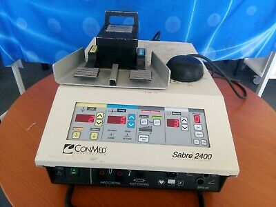 Conmed Sabre 2400 Electrosurgical Unit including Footswitch