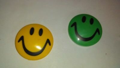 """2 smiley face refrigerator magnet 2""""X2"""""""