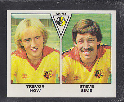 Panini - Football 80 - # 501 How / Sims - Watford