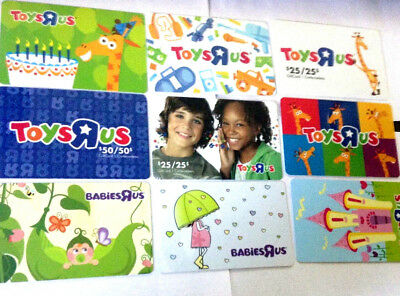 9 different & older YOYSRUS gift card lot not loaded zero balance X9