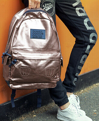 New Womens Superdry Foiled Montana Rucksack Rose