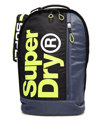 New Mens Superdry Academy Freshman Backpack And Pencil Case Black/Grey