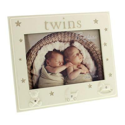 Photo Frame TWINS Baby Picture Frame Gift Birth Christening Present baby Shower
