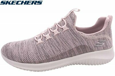 Details about Skechers 12840 Pink Air Cooled Memory Foam Slip On Ultra Flex Fashion Sneakers