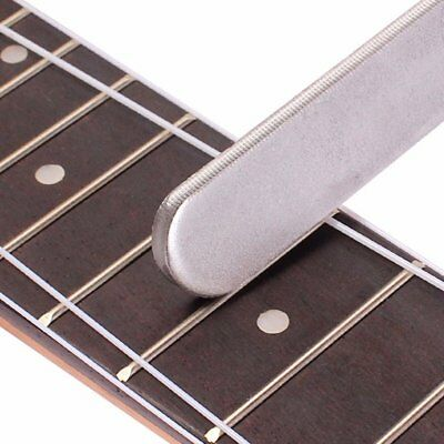 Guitar Frets Crowning Luthier File Stainless Steel Small Dual Cutting Edge Tool@