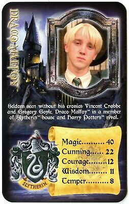 Draco Malfoy - Harry Potter & The Prisoner Of Azkaban 2005 Top Trumps Card C2576