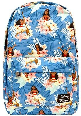 NEW Loungefly x Disney Moana Leaves AOP Nylon Backpack - SALE
