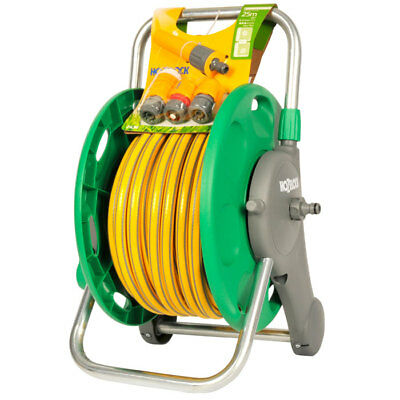 Hozelock 2431 2in1 45m Hose Reel with 25m Hose Pipe