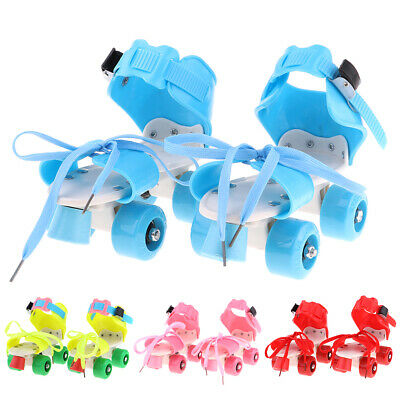 Children's Classic Quad Roller Skates 4 Wheels Skating Shoes Boys Girls