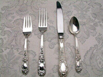 Kirk Rose by S Kirk & Son Sterling Silver, 4 Piece Place Setting