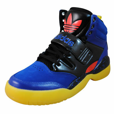 on sale 00594 2f17c Adidas Hackmore Mens Basketball Shoes Blue Black Yellow Red Q32938  Size-10.5M US