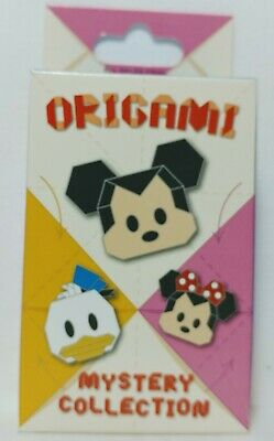 NEW Disney Parks Exclusive Unopened SEALED 2 Pin Origami Mystery Box Collection