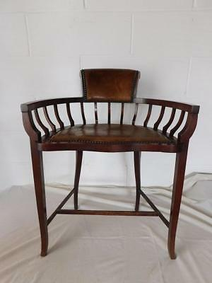 A Good Antique Mahogany Arts & Crafts Side Chair
