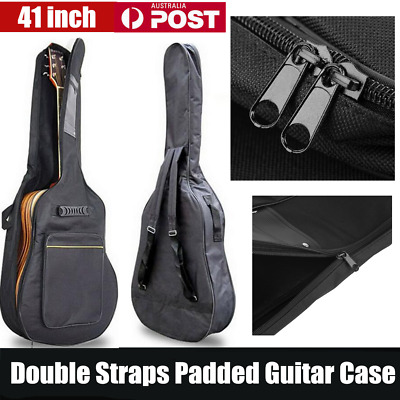 """41"""" Acoustic Guitar Double Straps Padded Guitar Soft Case Gig Bag Backpack A6"""