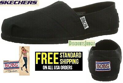 BOBS from Skechers Earth Day Slip-On Flat Women's Shoes size-8 to 11 BLACK-NEW