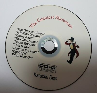 """THE GREATEST SHOWMAN""  KARAOKE disc in CD+G format"