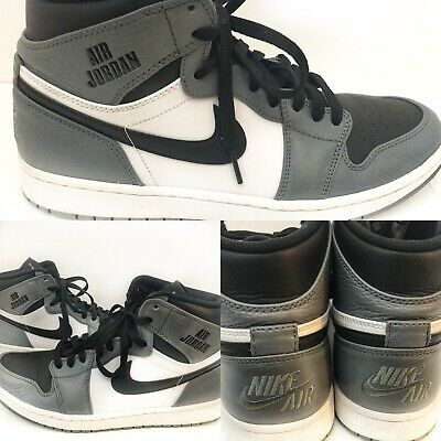 cddaf31cfc9 Nike RARE AIR Jordan Retro 1 High Grey White Black Men's Size 10 332550-024