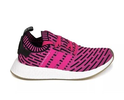 4b1f99358d481 NEW adidas Mens NMD R2 Primeknit Running Shoes Japan Shock Pink Size 10  BY9697