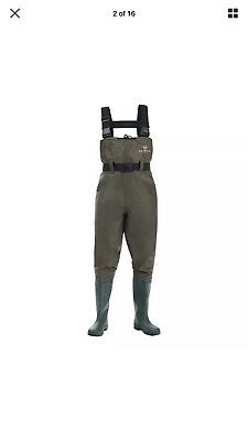 Chest Fishing Waders Wading Boots, Waterproof Insulated Breathable Nylon PVC 9
