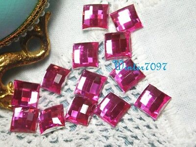(78)*costume Makers Sellout**flat Back Rhinestones**pink*squares*new!