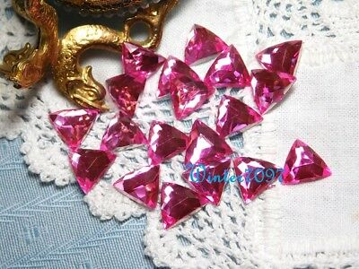 (77)*costume Makers Sellout**flat Back Rhinestones**pink*triangles*new!