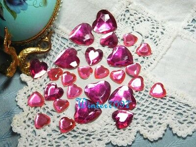 (71)*costume Makers Sellout**flat Back Rhinestones**pink Mix**hearts**new!