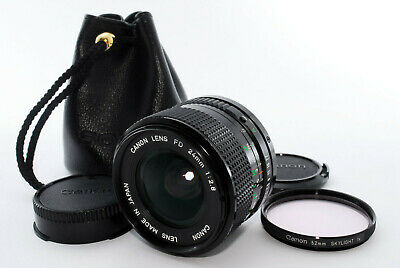 """""""MINT"""" Canon NFD New FD 24mm f/2.8 Lens from Japan #325"""