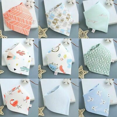 Baby Boy Girl Cotton Bandana Bibs Feed Saliva Towel Dribble Triangle Trendy