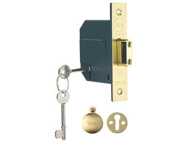 Yale PM562PB25 HiSecurity BS 5 Lever Mortice Dead Lock 67mm 2.5in Polish Brass