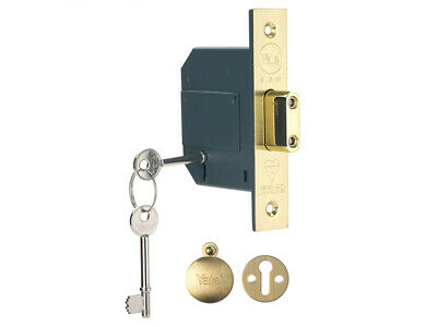 Yale PM562PB30 Hi-Security BS 5 Lever Mortice Dead Lock 80mm 3in Polish Brass