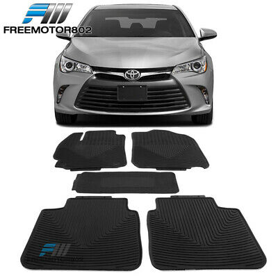 Fits 12-17 Toyota Camry All Weather Heavy Duty Latex Floor Mats Front & Rear