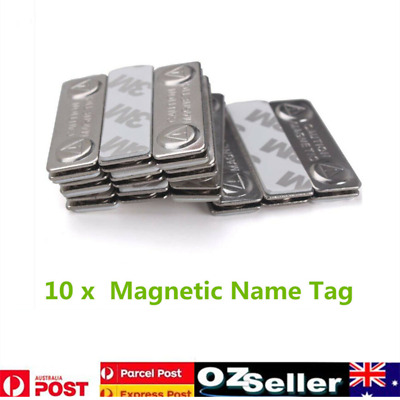 10pcs Strong Magnetic Name Tag Badge Fastener Holder ID Card Magnet AU Stock