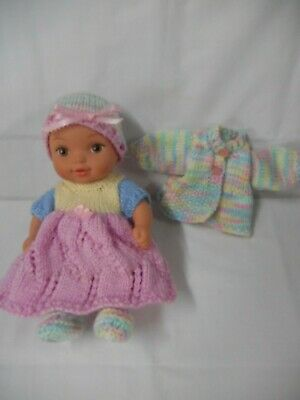 Hand knitted dolls clothes (Five piece Winter set), fit 26.5cm (10.5 inch) doll