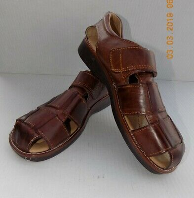 b75e324707621 Men Mexican huaraches Authentic leather sandals-slip on brown size 9 brown