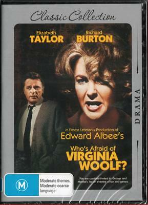Who's Afraid Of Virginia Woolf? - New Region 4 Dvd Free Local Post