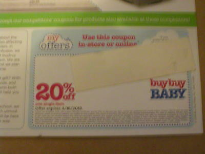 BUY BUY BABY Coupons 20% OFF One Single Item Offer Expired