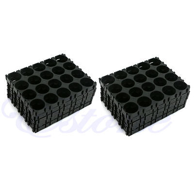 10pc 18650 Battery 4x5 Cell Spacer Radiating Shell Pack Plastic Heat Holders Set