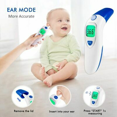 Baby Infrared Electronic Digital Non-Contact Infant Forehead Ear Thermometer Hot