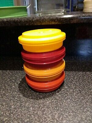 Retro Vintage Collectable Tupperware Containers set of 4